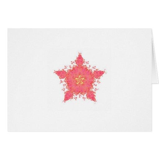 Estrella coralina tarjeta pequeña