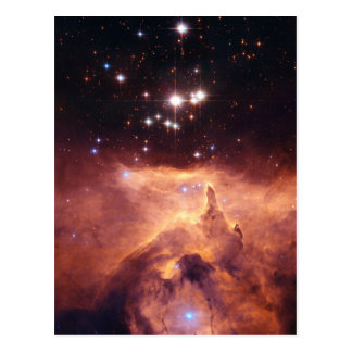 Estrella cruzada tarjeta postal