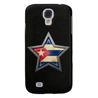 Estrella cubana de la bandera con el efecto de ace