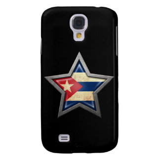 Estrella cubana de la bandera en negro