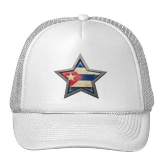 Estrella cubana de la bandera gorro
