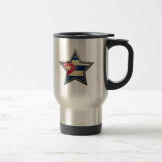 Estrella cubana de la bandera taza