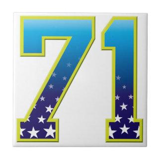 Estrella de 71 edades azulejo