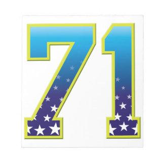 Estrella de 71 edades bloc de notas
