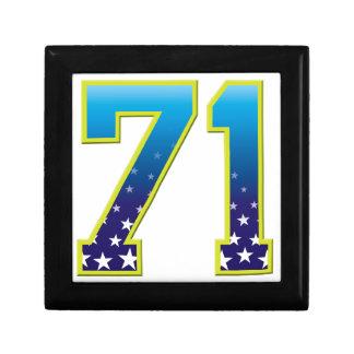 Estrella de 71 edades cajas de recuerdo