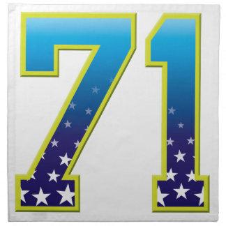 Estrella de 71 edades servilletas imprimidas