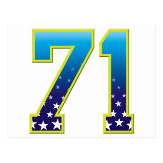 Estrella de 71 edades postal