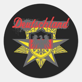 Estrella de Alemania Etiquetas Redondas