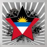 Estrella de Antigua y de Barbuda Impresiones