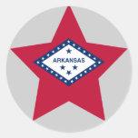 Estrella de Arkansas Etiqueta Redonda