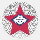 Estrella de Arkansas Pegatina Redonda