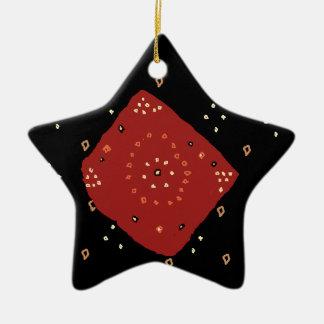 Estrella de Bandhini Adorno Navideño De Cerámica En Forma De Estrella