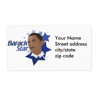 Estrella de Barack Etiquetas De Envío