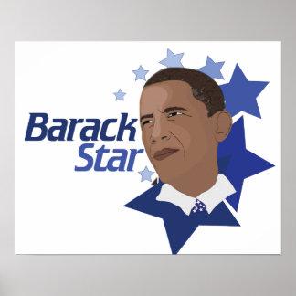 Estrella de Barack Posters