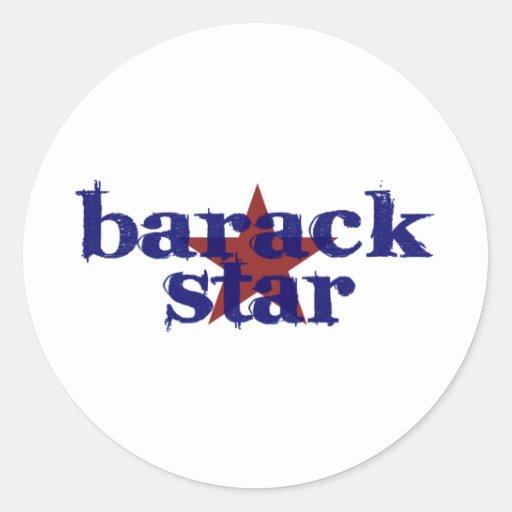 Estrella de Barack Pegatina Redonda