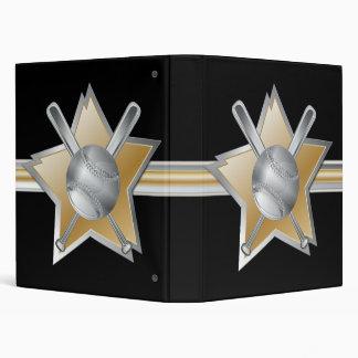 """Estrella de béisbol del efecto del oro y de la carpeta 1"""""""