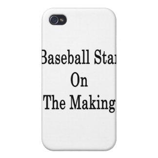 Estrella de béisbol en la fabricación iPhone 4/4S carcasas
