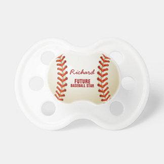 Estrella de béisbol futura chupete de bebe