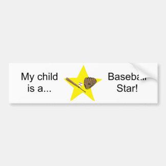 ¡Estrella de béisbol Personalizable Pegatina De Parachoque