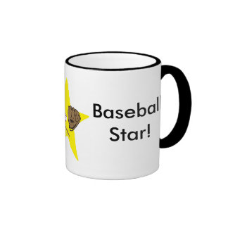 ¡Estrella de béisbol!  Personalizable: Taza De Dos Colores