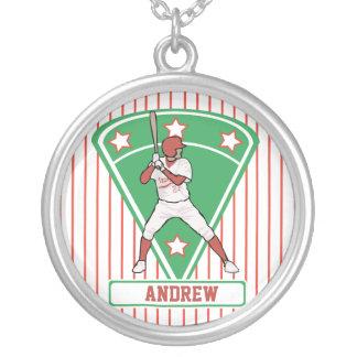 Estrella de béisbol roja personalizada colgante personalizado