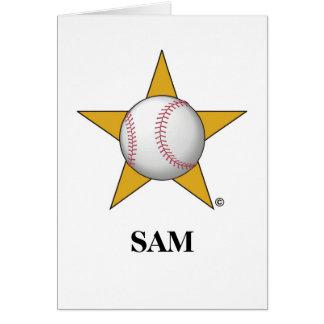 Estrella de béisbol felicitacion