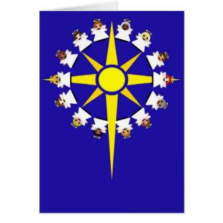 Estrella de Belén con ángeles Tarjeton