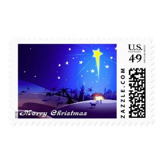 Estrella de Belén Sello del navidad