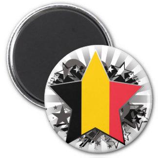 Estrella de Bélgica Imán Redondo 5 Cm
