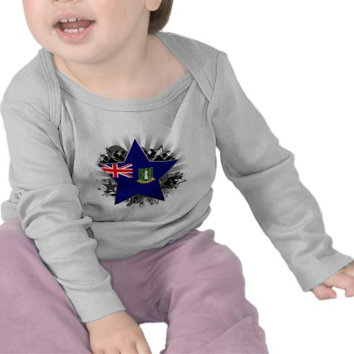 Estrella de British Virgin Islands Camiseta