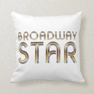 Estrella de Broadway de la CAMISETA Cojin