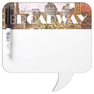 Estrella de Broadway de la CAMISETA Pizarra Blanca