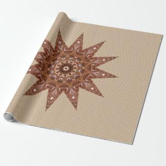 Estrella de bronce papel de regalo