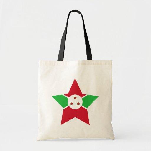 Estrella de Burundi Bolsas Lienzo