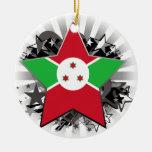Estrella de Burundi Ornaments Para Arbol De Navidad