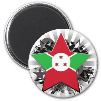 Estrella de Burundi Imán De Nevera