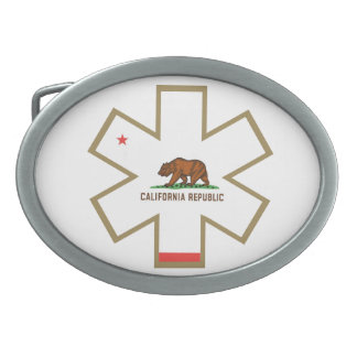 Estrella de California el ccsme de la hebilla del  Hebilla Cinturon Oval