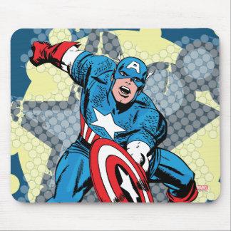 Estrella de capitán América Tapete De Ratones