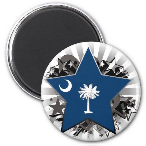 Estrella de Carolina del Sur Imán Redondo 5 Cm