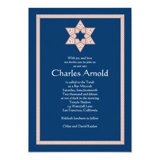 Estrella de Charles de la invitación de Mitzvah de
