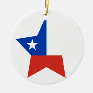 Estrella de Chile Adorno Redondo De Cerámica