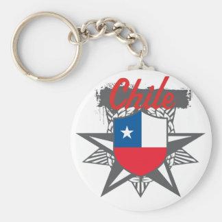 Estrella de Chile Llavero Redondo Tipo Pin