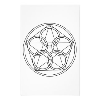 Estrella de cinco círculos  papeleria