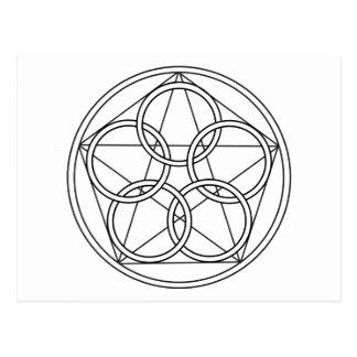 Estrella de cinco círculos postales
