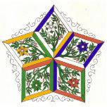 Estrella de cinco elementos esculturas fotograficas
