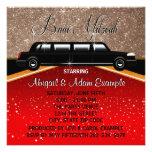 Estrella de cine de la alfombra roja del encanto d invitaciones personalizada