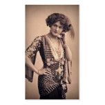Estrella de cine del vintage del lirio plantillas de tarjetas de visita