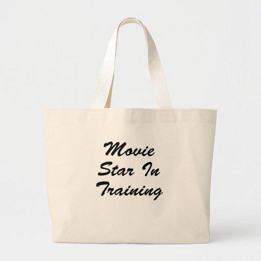 Estrella de cine en el entrenamiento bolsa