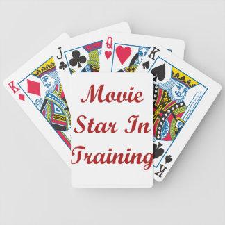 Estrella de cine en el entrenamiento cartas de juego