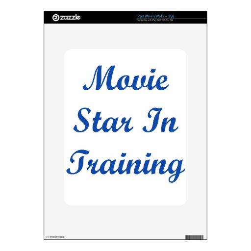 Estrella de cine en el entrenamiento iPad calcomanía